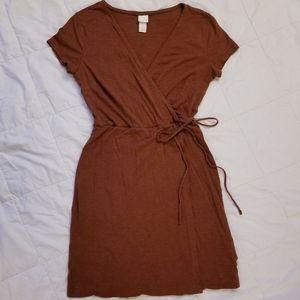 H&M CONGANC WRAP STYLE SHORT SLEEVE T SHIRT DRESS